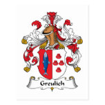 Greulich Family Crest Post Cards