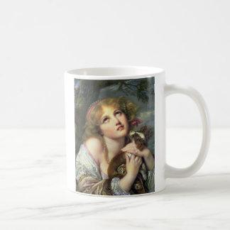 Greuze Papillon/Phalene Fidelity Classic White Coffee Mug