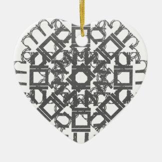 Grey 101STAR Double-Sided Heart Ceramic Christmas Ornament