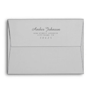 Grey 5 x 7 Pre-Addressed Envelopes