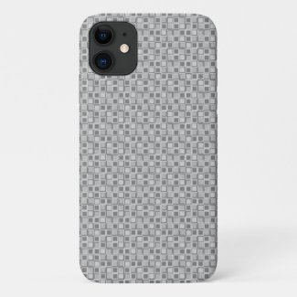 Grey 70's year styling squares iPhone 11 case
