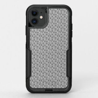 Grey 70's year styling squares OtterBox commuter iPhone 11 case