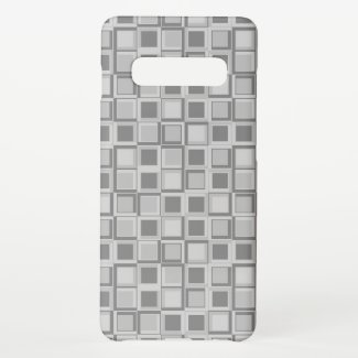 Grey 70's year styling squares samsung galaxy s10+ case