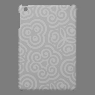 Grey Abstract Pattern Cover For The iPad Mini