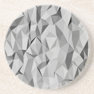 grey abstract pattern drink coaster
