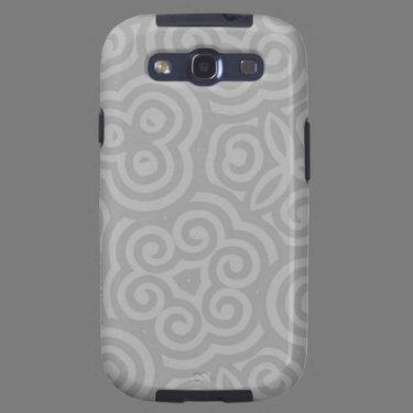 Grey Abstract Pattern Galaxy SIII Cover