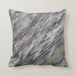 grey abstract pattern pillow