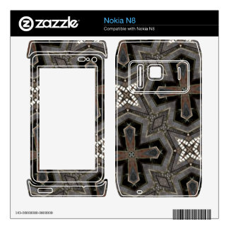 Grey abstract Pattern Decal For The Nokia N8
