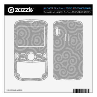 Grey Abstract Pattern ALCATEL Tribe Skin