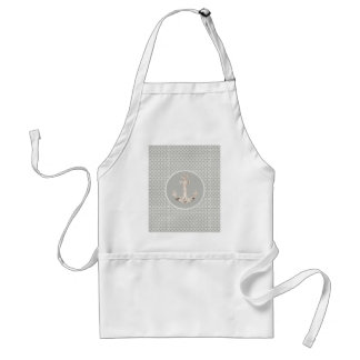 grey abstract pattern vintage anchor nautical apron