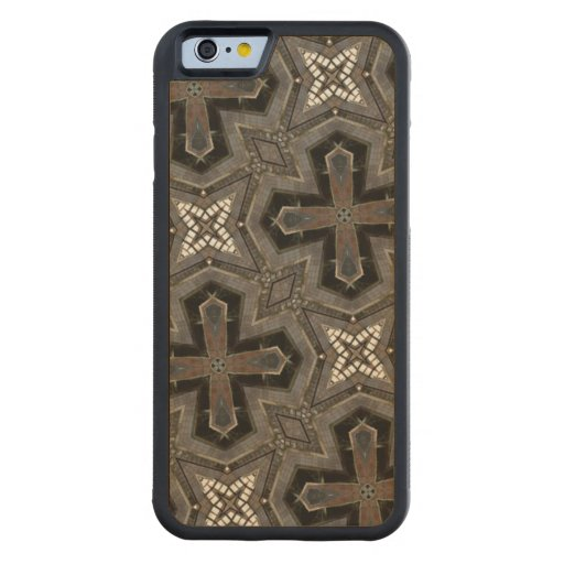 Grey abstract Pattern Carved® Maple iPhone 6 Bumper Case