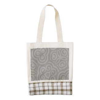 Grey Abstract Pattern Zazzle HEART Tote Bag