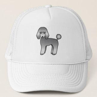 Grey Adorable Standard Poodle Dog Trucker Hat