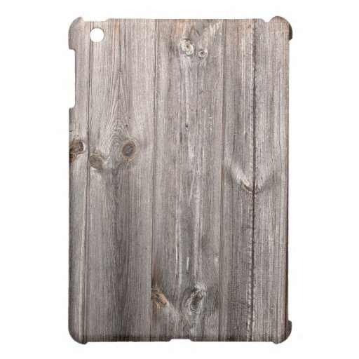 """Grey """"aged wood"""" faux texture cover for the iPad mini"""