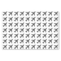 Grey Airplanes Tissue Paper