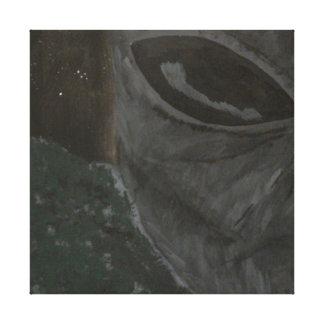 Grey alien canvas print