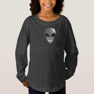 Grey alien Custom Girls' Spirit Jersey Shirt