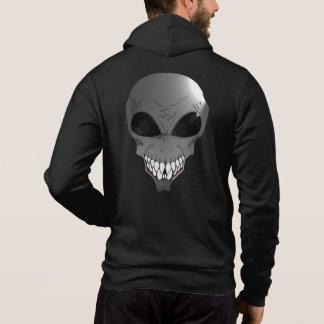 Grey alien Men's Bella+Canvas Full-Zip Hoodie