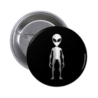 Grey Alien Pinback Button