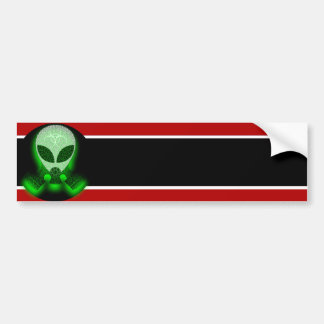 Grey Alien With Gas Mask Bumper Sticker