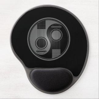 Grey and Black Acoustic Guitars Yin Yang Gel Mouse Pad
