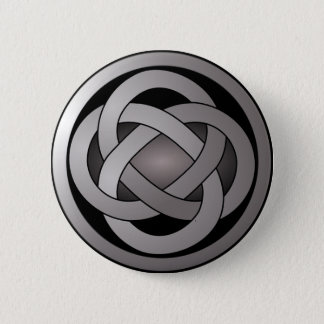 Grey and Black, Celtic Knot. Button