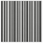 [ Thumbnail: Grey and Black Colored Lines Fabric ]