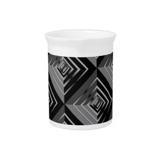 Grey and Black Layers Drink Pitcher