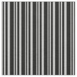 [ Thumbnail: Grey and Black Lines Fabric ]