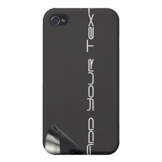 Grey and Black Martini Glass Business Cases For iPhone 4