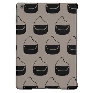 grey and black purse pattern iPad air case