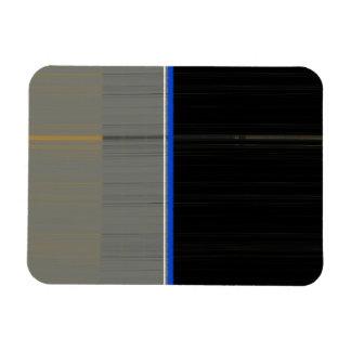 Grey and Black Rectangular Photo Magnet