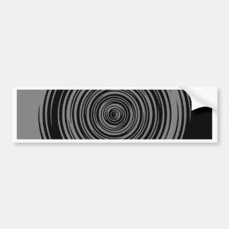 Grey and Black Sharp Spiral Bumper Sticker