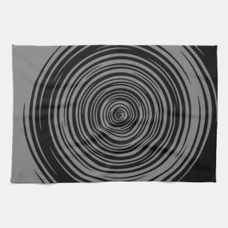 Grey and Black Sharp Spiral Kitchen Towel