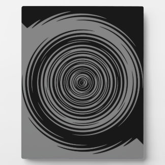 Grey and Black Sharp Spiral Plaque