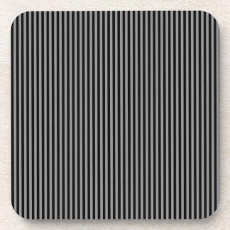 Grey and Black Stripes Beverage Coaster