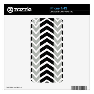 Grey and Black Whale Chevron Skin For The iPhone 4S