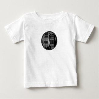 Grey and Black Yin Yang Guitars Baby T-Shirt