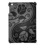 Grey and Black Yin Yang Roses Case For The iPad Mini