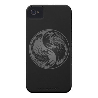 Grey and Black Yin Yang Scorpions iPhone 4 Cover