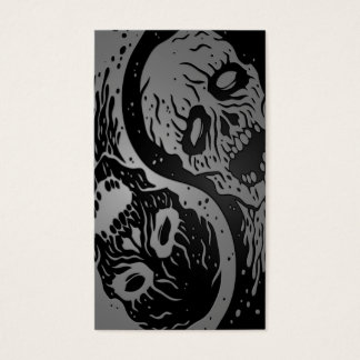 Grey and Black Yin Yang Zombies Business Card