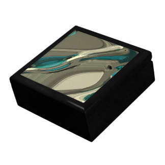 Grey and Blue Abstract Art Gift Boxes