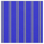 [ Thumbnail: Grey and Blue Stripes Fabric ]