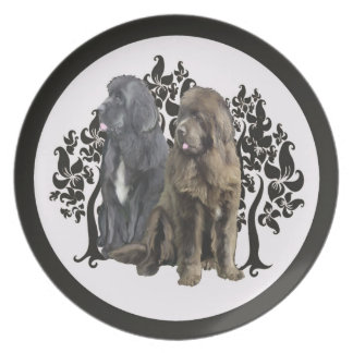 grey and bronze newfy plate