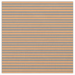 [ Thumbnail: Grey and Brown Colored Striped Pattern Fabric ]