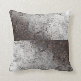 Grey and Brown Space Abstract Pillow