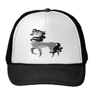 Grey and cute horse with black hair trucker hats