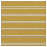 [ Thumbnail: Grey and Dark Goldenrod Lines Fabric ]