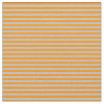 [ Thumbnail: Grey and Dark Orange Lines Fabric ]