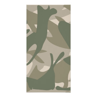 Grey and Green Camouflage Card